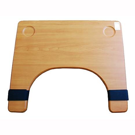 [Caremate] portátil silla de ruedas bandeja de madera alimentos cuadro cm-503
