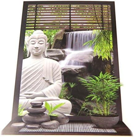 Les Trésors de Lily P0362 - Pegatina trampantojo Jardin Zen buda - 50x70 cm.: Amazon.es: Hogar
