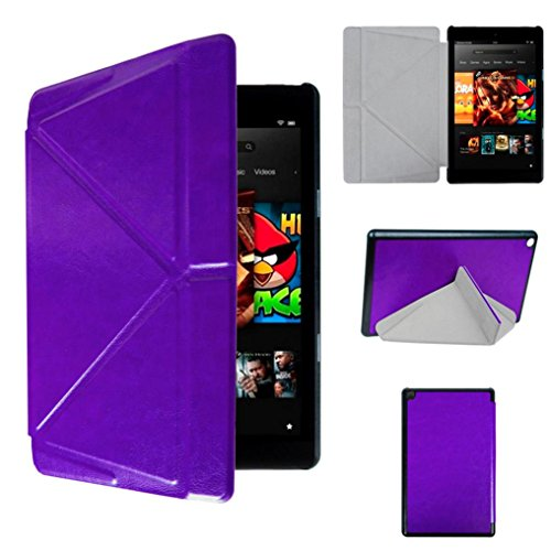 Price comparison product image Kindle Fire HD 8, LUNIWEI AUTO Sleep Cover Case + Touch Pen + HD Screen Protective Film