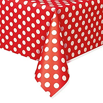 Polka Dot Plastic Tablecloth, 108u0026quot; ...