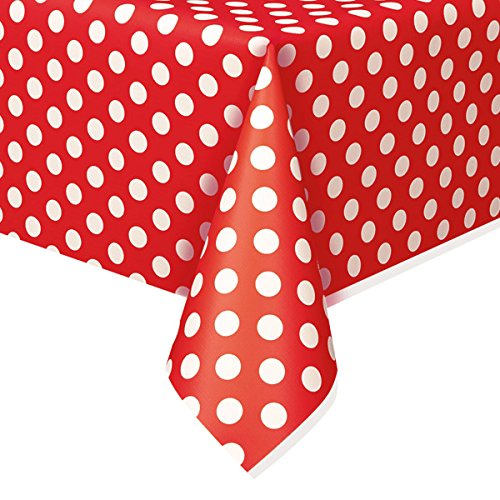 Polka Dot Plastic Tablecloth, 108