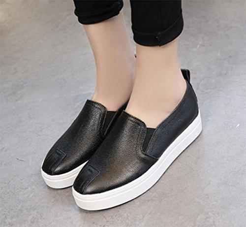 Mme Spring chaussures ascenseur rondes chaussures simples chaussures de sport Mme sport peu profonde bouche chaussures , US6 / EU36 / UK4 / CN36