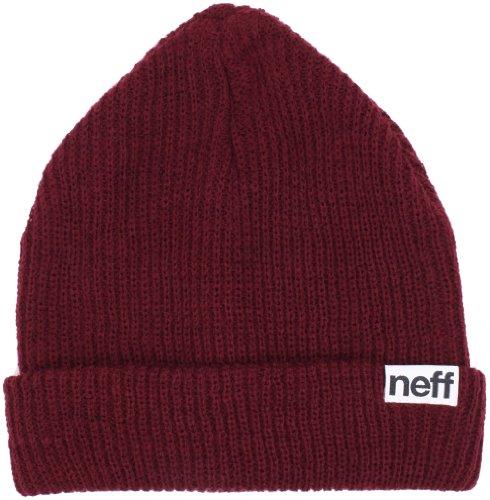 NEFF Men's fold Beanie, Maroon, One Size