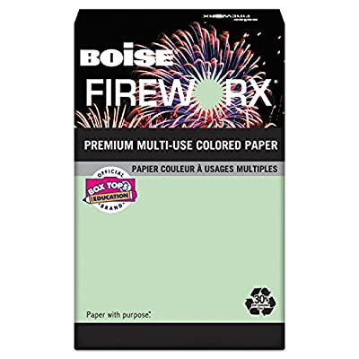 FIREWORX Colored Paper, 20lb, 11 x 17, Popper-mint Green, 500 Sheets/Ream
