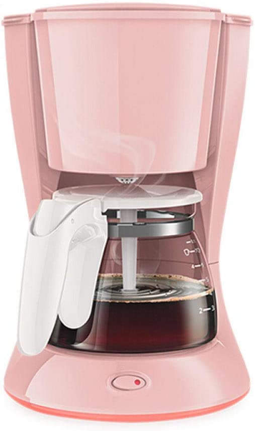 Cafetera cafetera cafetera filtro de goteo americano té hervido rosa simple y conveniente: Amazon.es: Hogar