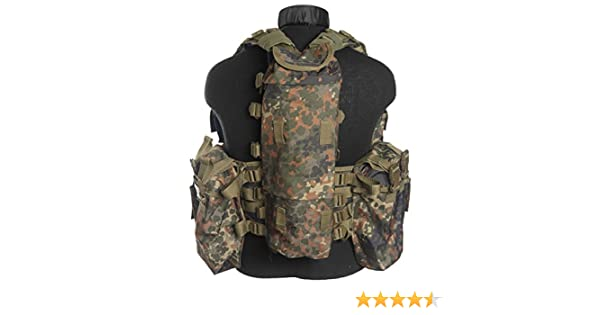 South African Army Tactical Assault Combat Vest Adjustable BW Flecktarn Camo