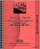 Massey Ferguson 1030 Tractor Operators Manual