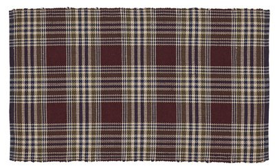 VHC Brands Rustic Lodge Flooring – Jackson Red Wool Cotton Rug, 3 x 5