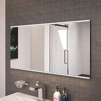 Bathroom Mirror 1000x500 LED Illuminated Glass Bevelled Edge