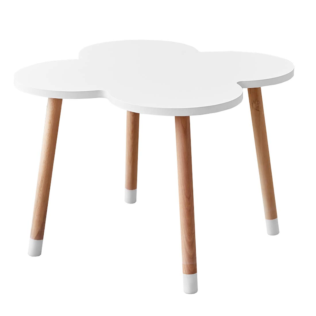 DAXIONG Deluxe Hardwood Four-Leaf Clover Activity Play Table for Kids, Solid Wood Childrens Table for Playroom/Daycare/Preschool, Sturdy and Safe Materials by DAXIONG