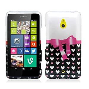 Plastic Heart Pattern W/ Bow Tie Hard Cover Snap On Case For Nokia Lumia 1320 (Accessorys4Less)