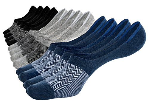 Pembrook No Show Low Cut Socks - 6 Pairs - Pattern – Great for low profile below the ankle style – Men Women