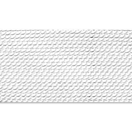 Griffin 1mm Thick Silk Cord White - Size 10