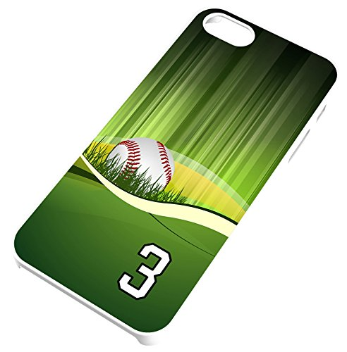 iPhone 6 Plus 6+ Case Baseball Umpire Customizable by TYD Designs in White Rubber with Team Number 3