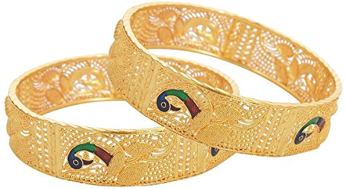 YouBella Ethnic Bollywood Gold Plated Traditional Bracelets Bangles Jewellery for Women and Girls (Bollywood Bracelet)