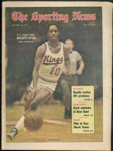 - SPORTING NEWS Nate Archibald Kings Rozelle Chuck Tanner 12/30 1972