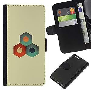 NEECELL GIFT forCITY // Billetera de cuero Caso Cubierta de protección Carcasa / Leather Wallet Case for Apple Iphone 5C // Resumen Bee Hive