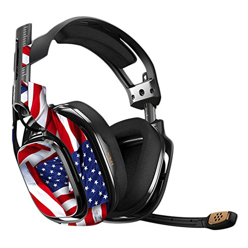 MightySkins Skin Compatible with Astro A40 Gaming Headset - Patriot | Protective, Durable, and Unique Vinyl Decal wrap Cover | Easy to Apply, Remove, and Change Styles | Made in The USA ()