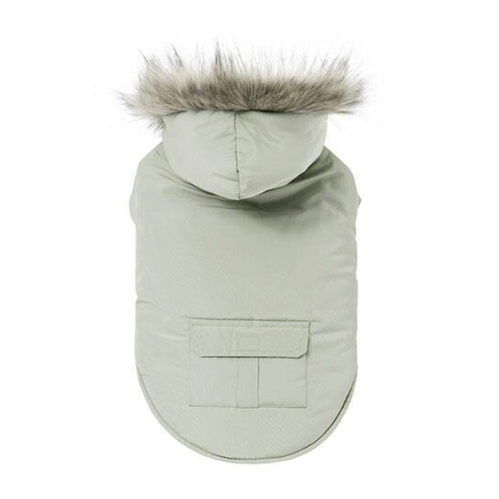 Beige X-Small Beige X-Small Dog Cotton Jacket with Hat Dog Clothing Pet Clothing Winter Jacket Comfortable Outdoor Cotton,Beige-XS
