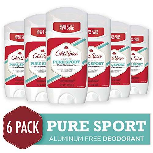 Old Spice High Endurance Anti-Perspirant & Deodorant, Pure Sport 3 oz (Pack of 6) ()