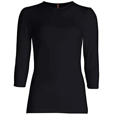 73d1c7164a4 Esteez 3/4 Sleeve Shirt for Women Fitted/Relaxed Cotton Lycra Base ...