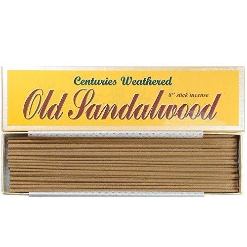 "Price comparison product image Indian Centuries Weathered Old Sandalwood - 8"" stick incense - 100% Natural - L007T"