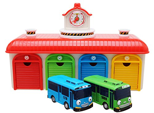 The Little Bus Tayo Friends Toy car - Garageset (Tayo The Little Bus Garage)
