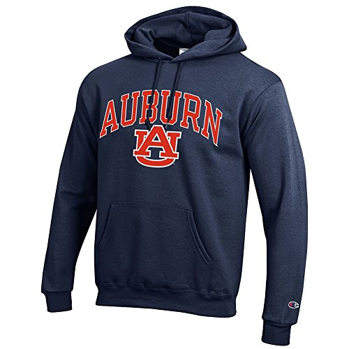 Auburn Tigers Hooded Sweatshirt Varsity Navy - (Eagles Plush Fleece)