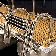 Boat/Dock/Swim Pool Ladder 4 Step, Folding Telescoping Docking Ladder for Boat Yacht Dock Pool, 550 Lbs Capaci