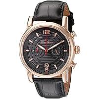 Lucien Piccard Men's LP-14084-RG-014 Morano Analog Display Quartz Black Watch
