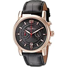 Lucien Piccard Men's LP-14084-RG-014 Morano Analog Display Quartz Black Watch