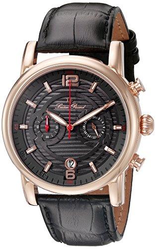 Lp Lucien Piccard (Lucien Piccard Men's LP-14084-RG-014 Morano Analog Display Quartz Black Watch)
