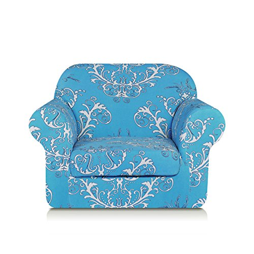 TIKAMI Printed Floral Sofa Slipcovers 2-Piece Stretch Spandex Chair Covers Anti-Slip Couch Protector for Living ()