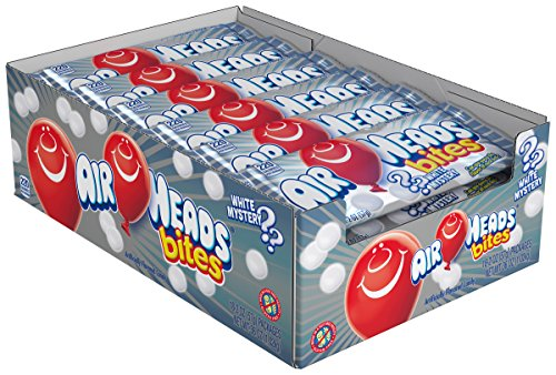Melle Van Airheads (AirHeads Bites Candy, White Mystery, Non Melting, 2 OZ Peg Bag (Pack of 18))