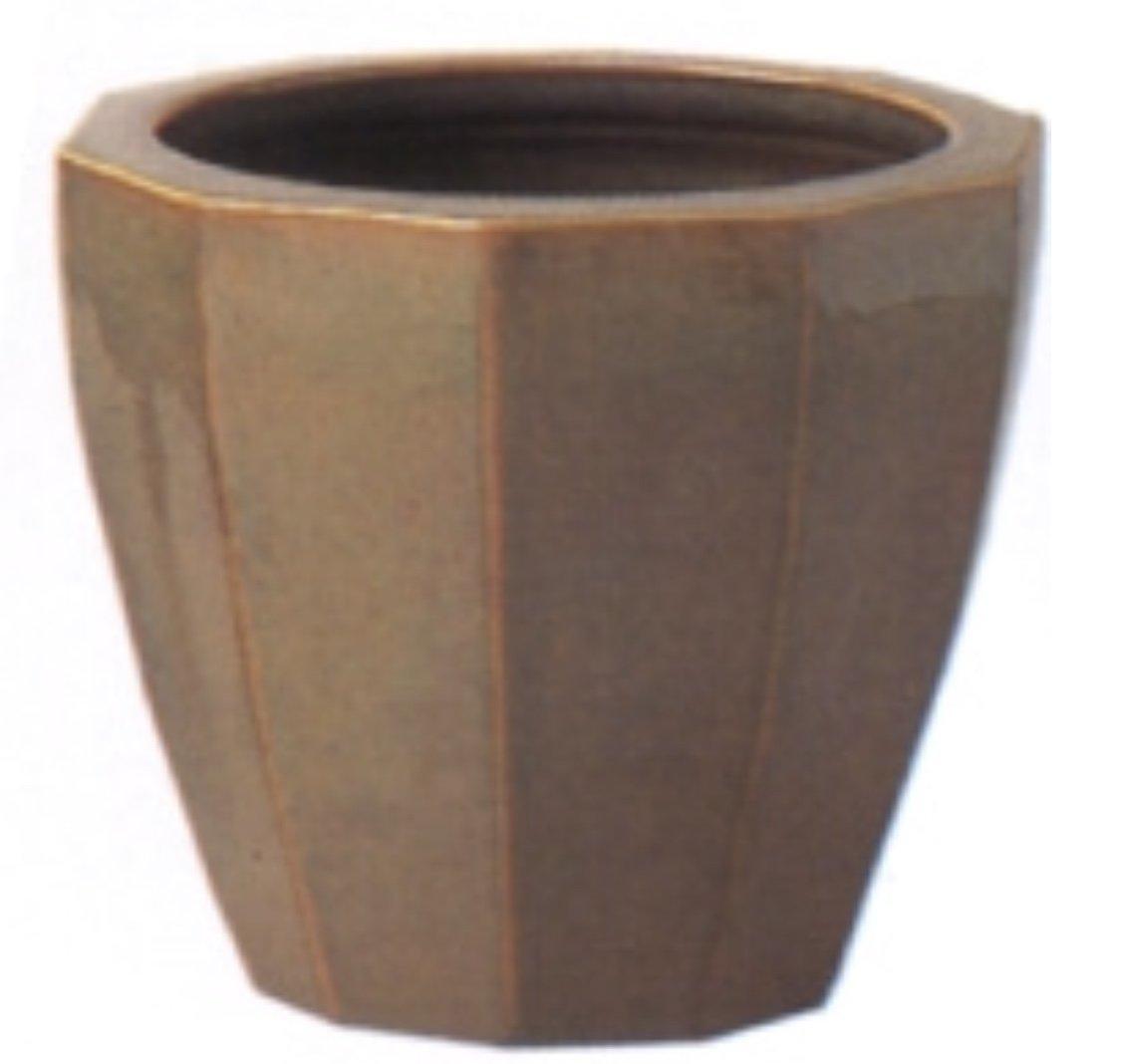 アドミナ 鉢カバー 8号用 36cm カラシ【ネオモダン N-12】 陶器 信楽焼き 穴なし おしゃれ B079W7DF1G 8号|カラシ