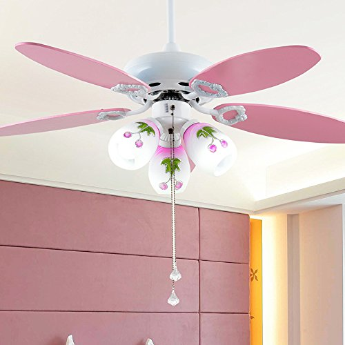 Cute Fashion Pink Iron Kid S Room Ceiling Fan Lights