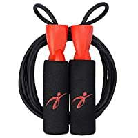 Fitness Factor Adjustable Jump Rope with Carrying Pouch - Cardio Jumping Rope for Men, Women, and Children of All Heights and Skill Levels - Great for Crossfit Training, Boxing, and MMA Workouts