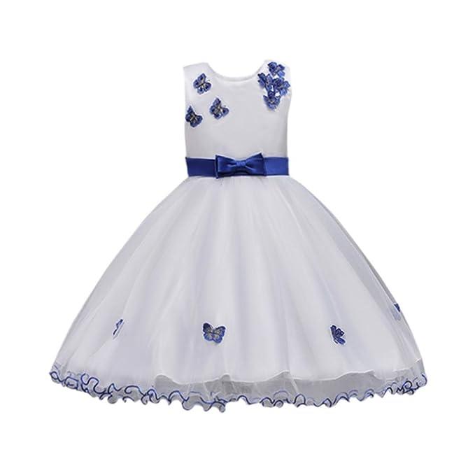 bbe2481cfc Wesracia Kids Baby Girl Sleeveless Net Yarn Tutu Dress Princess Bridesmaid  Pageant Gown Birthday Party Wedding