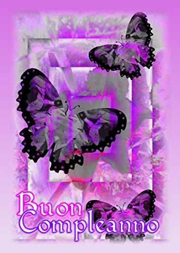 Italian Happy Birthday (Buon Compleanno) Butterflies Birthday Greeting Card (1)