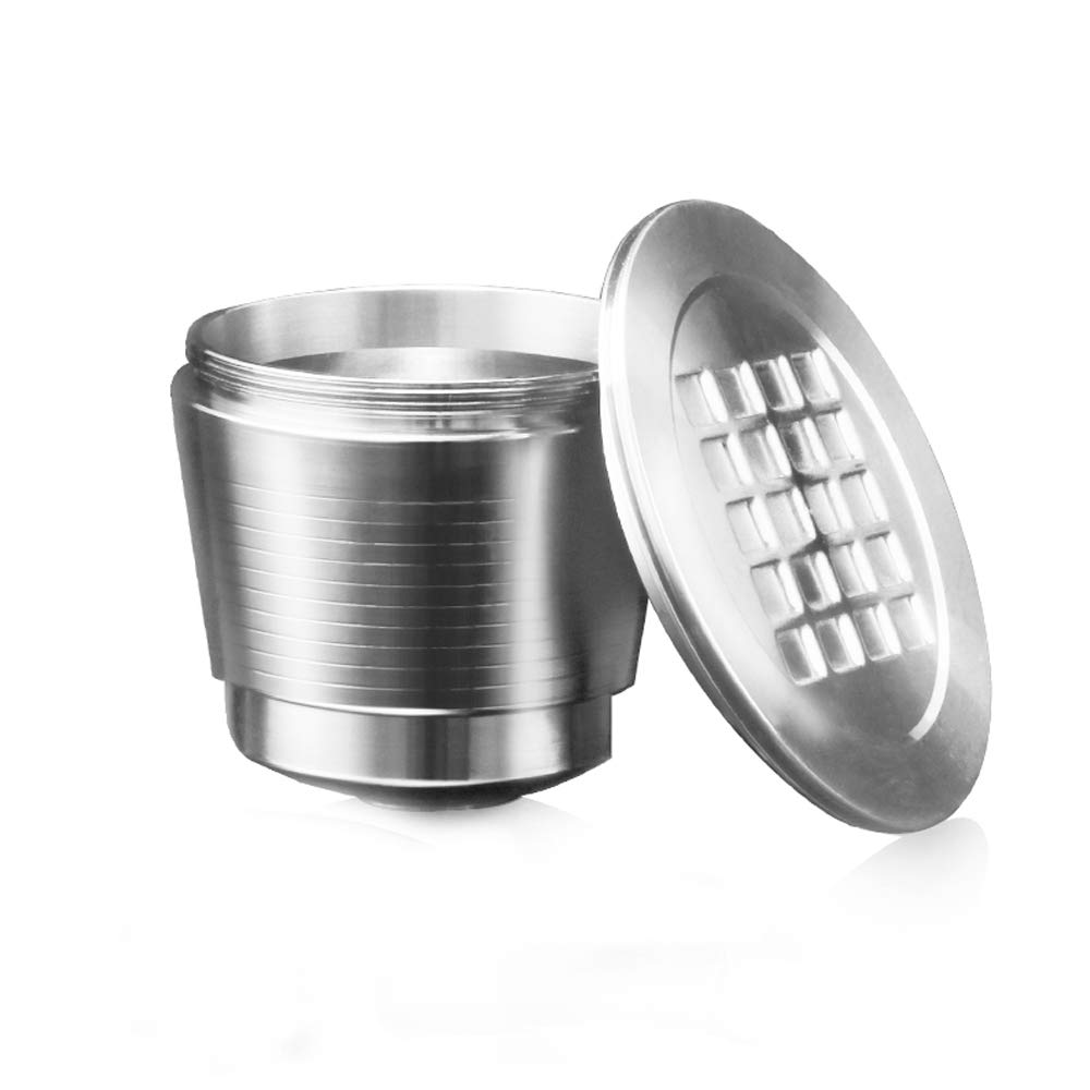 MG Coffee Food-Grade Stainless Steel Reusable Nespresso Capsule Permanent Coffee Pod Holder for Nespresso Original Line Machines with Gifts