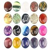 Wholesale Gemstone Mix Kinds of Jasper Agate Oval Shape Cabochon CAB Flatback, DIY Jewelry Accressory