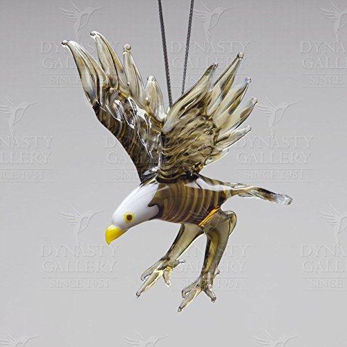 Hand Crafted Glass Christmas Tree Ornament or Figurine, Bald Eagle