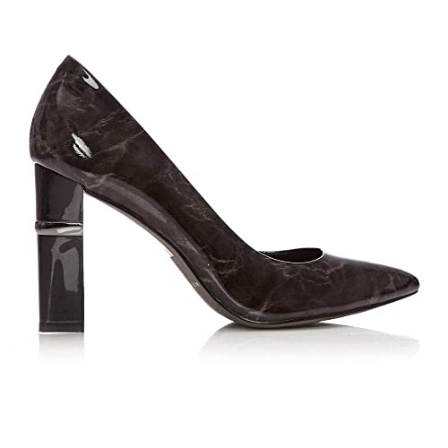cc40356412e Moda In Pelle Chavela Black Patent Leather  Amazon.co.uk  Shoes   Bags