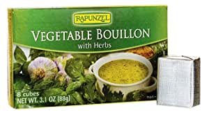 Rapunzel Vegetable Bouillon with Herbs, 8 Count Cubes (Pack of 6)