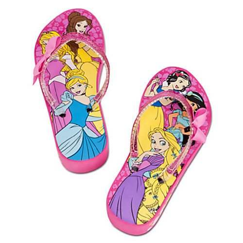 Disney Store - Girls - Six Princess - Pink - Platform Flip Flops - Size 7/8 ()