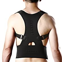 CFR™ Posture Shoulder Back Waist Support Compression Braces Prevent Hunched Back Injury Recovery Body Reshape Black/White/Pink/Blue M-XL