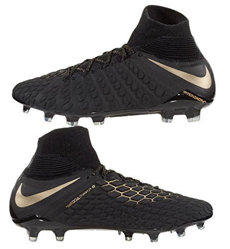 Nike Hypervenom Phantom III Elite Dynamic Fit Soccer Cleats (9.5, Black/Gold)