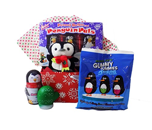 Wishing you a COOL - Yule! Penguin Winter Candy Toy Gift Basket