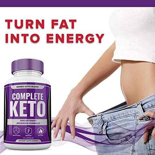 Complete Keto Pills 800mg, Keto Complete Diet Pills Capsules BHB Supplement, Complete Ketogenic Diet for Beginners, BHB Ketones Slim Pills for Energy, Focus - Exogenous Ketones for Men Women 7
