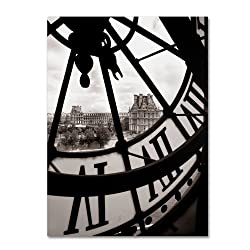 Big Clock  by Chris Bliss, 24 by 32-Inch Canvas Wall Art